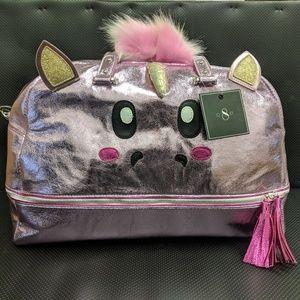 Iridescent Pink Duffle Weekender Bag - Unicorn